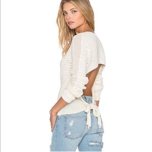 Free People Bow Back Pullover Size M